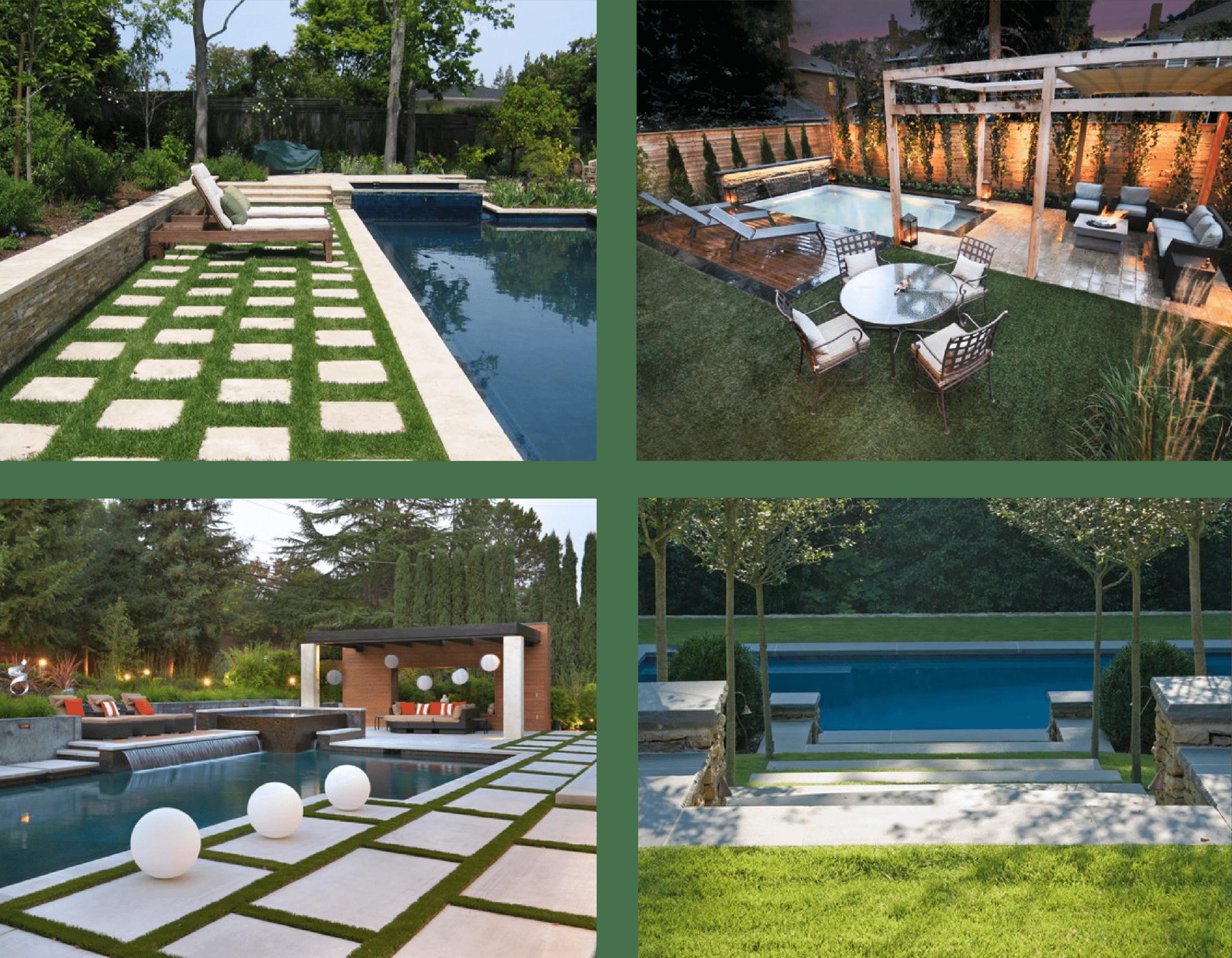 21ff1d0f Los mejores tipos para piscinas: Césped artificial piscinas